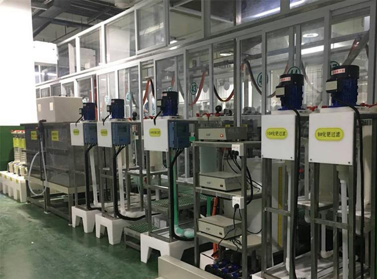 电镀设备生产线-新装化学镍钯金生产线